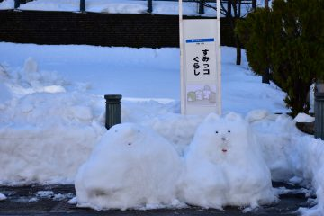 雪像(河鹿)