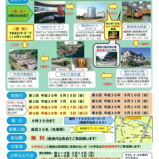 『黒部川扇状地の街』ものづくり企業とトロッコ電車見学会 (1)