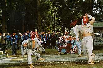 小川寺の獅子舞 (1)