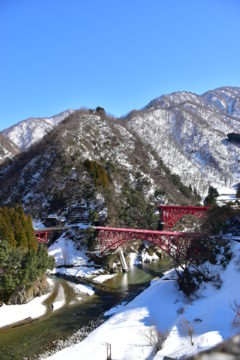 宇奈月温泉 冬景色