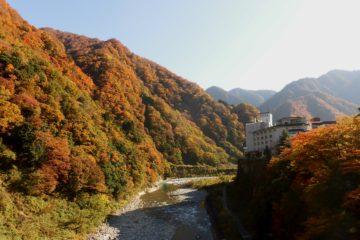 黒部峡谷の紅葉