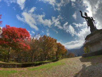 宇奈月温泉観音像紅葉