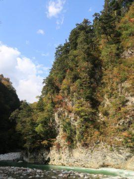 紅葉の黒部峡谷4
