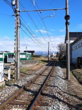 地鉄線路風景
